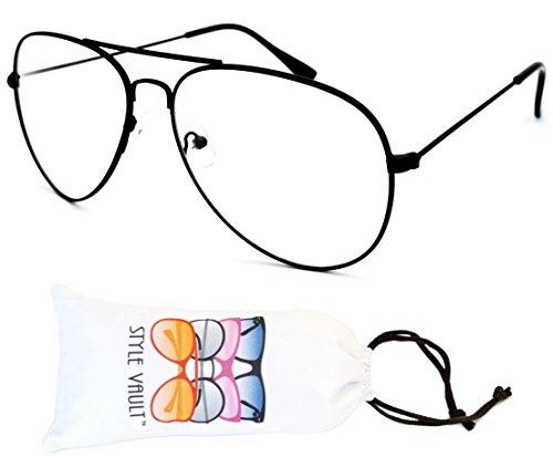 Style Vault a3045-vp Metal Aviator lente transparente gafas