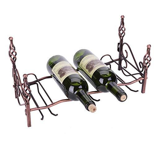 Botellero Pequeño para 4 Botellas y 6 Copas de Vino, Estantería de Pared para Botellas de Vino Soporte de Estante de Hierro de Vino Decoración del Hogar
