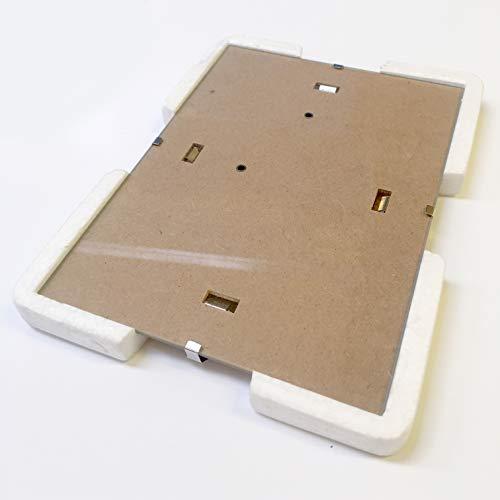 Nacnic Marco Clip Transparente (10x15 cm) Caja de 24 Unidades. Marcos Clip Transparentes para Fotos,...