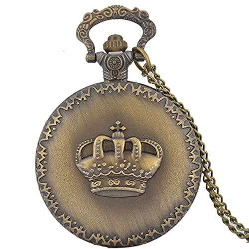 Reloj de Bolsillo clásico Reloj de Bolsillo de Cuarzo para Mujer Retro Little Rose Crown Aleación Material Colgante Reloj Ladies Estilo Rural Ropa Accesorios Reloj de Bolsillo Vintage para Hombre