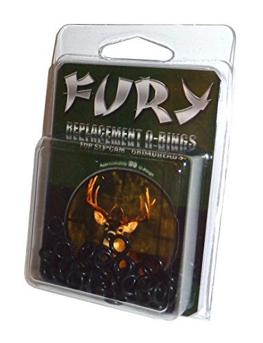 Fury - Replacement O-Rings for Rage Slipcam Broadheads (Pack of 50)