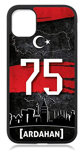 Kompatibel mit Samsung Galaxy S21 Ultra Hülle, Silikon Handyhülle Schwarz dünn, Hülle Cover Türkei 75 Ardahan Motiv Bild