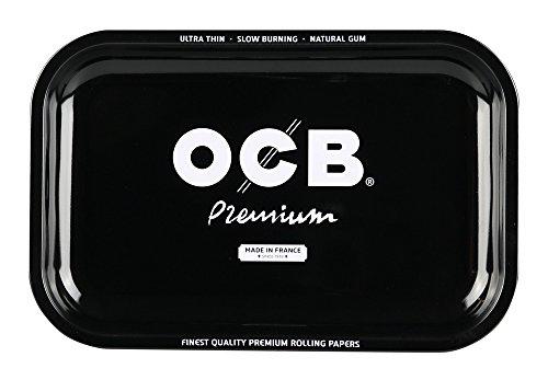 OCB Premium Rolling Metal Tray, Metallo, Nero, Medium, 11.5Wx7.5L