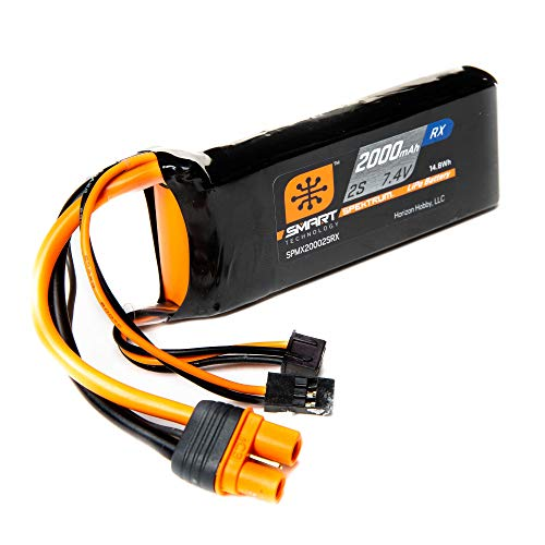 Price comparison product image Spektrum 7.4V 2000mAh 2S 15C Smart LiPo Receiver Battery: Universal Receiver,  IC3
