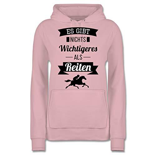 Reitsport - Es gibt Nichts Wichtigeres als Reiten - L - Hellrosa - reiten Pullover - JH001F - Damen Hoodie und Kapuzenpullover für Frauen