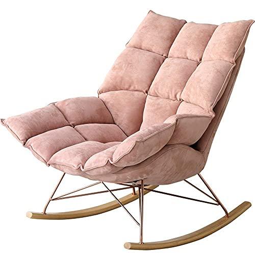 DGDF - Sedia a dondolo con lumaca, in pelle scamosciata, per soggiorno, balcone, pausa pranzo pigro
