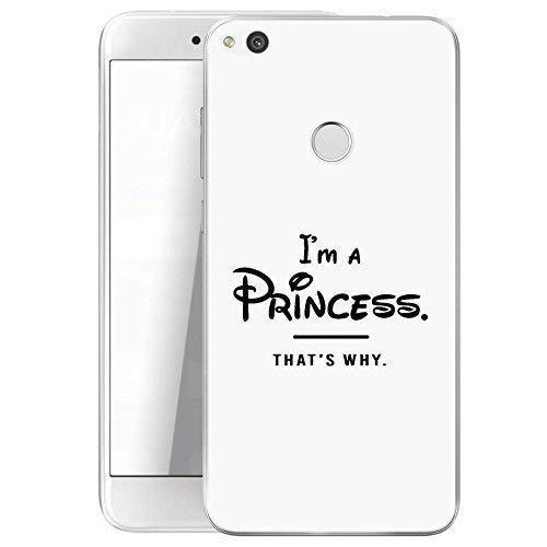 Finoo Huawei P8 Lite 2017 Hard Case Handy-Hülle mit Motiv | dünne stoßfeste Schutz-Cover Tasche in Premium Qualität | Premium Case für Dein Smartphone| Princess White
