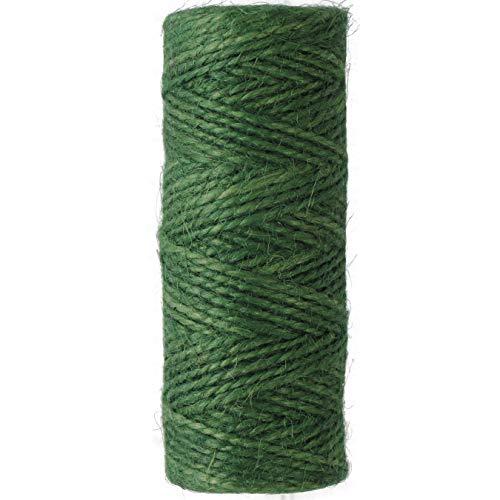Uooom Épaisseur de 2 mm corde de chanvre naturel Corde Cordon Ficelle de jute pour bricolage Crafts, décoration, liasses, jardinage, Green