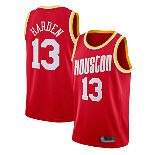 Wo nice Uniformes De Baloncesto De Los Hombres, Houston Rockets # 13 James Harden NBA Summer Basketball Jerseys Casual Tops Sueltos Camisetas Chalecos De Secado Rápido,Rojo,S(165~170CM)