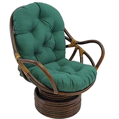 EXQULEG Coussin d'assise pour fauteuil à dossier bas - 120 x 60 cm - Pour chaises de jardin - Vert foncé