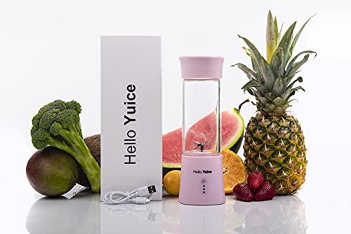 Batidora de vaso para smoothies, licuadora – Blender to go, licuadora recargable con 6 cuchillas de acero inoxidable, sin BPA, para proteínas, batidos, viajes, fitness, cocina, etc.