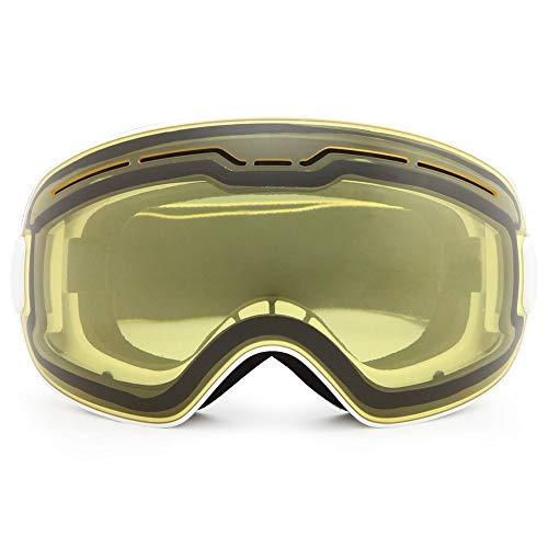 Yi-xir diseño Clasico Adultos nuevos Gafas de esquí magnéticas esféricas duales duales Anti-Niebla Gafas de esquí Moda (Color : 5, Size : 190 * 110mm)