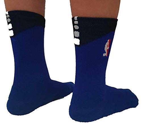 Donass® Calcetines de baloncesto NBA Logoman para hombre Tamaño: 42-46 EUR (26-28 cm)