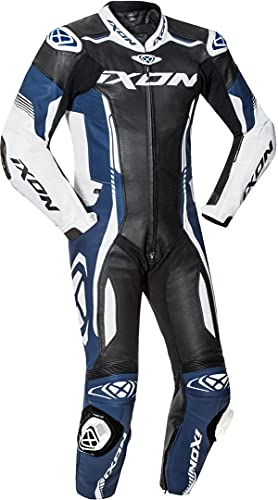 Ixon Vortex 2 1-Teiler Motorrad Lederkombi Schwarz/Weiß/Blau M