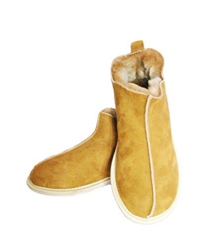 Sale ! Candy Slippers Sheepskin Slippers Chestnut Wool Slippers. Warm & Lovely Genuine Slippers, Perfect for Gift. Ankle Boot Slippers.Schaffell Pantoffeln/Hausschuhe Slipper (40)