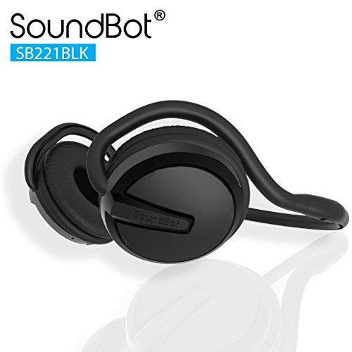 Soundbot SB221-BLK/BLK Bluetooth Headphones (Black/Black)