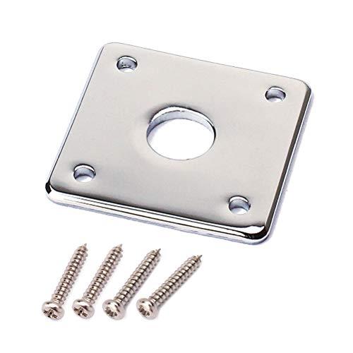 HEALLILY Base inferior de metal placa de placa cuadrada para bajos de...
