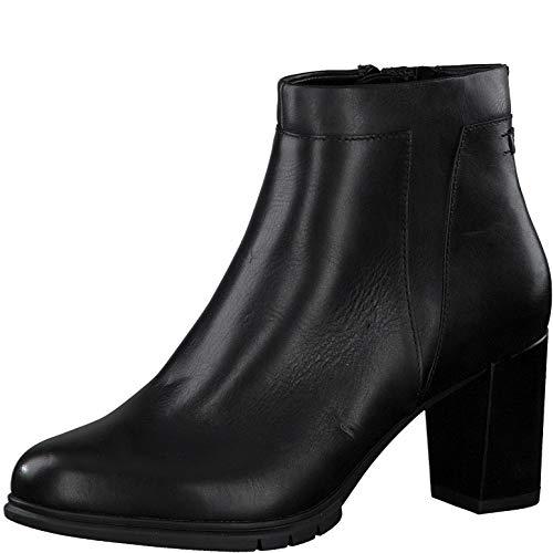 Tamaris Damen Stiefeletten, Frauen Ankle Boots, Women Woman Business geschäftsreise geschäftlich büro Stiefel halbstiefel,Black Uni,39 EU / 5.5 UK