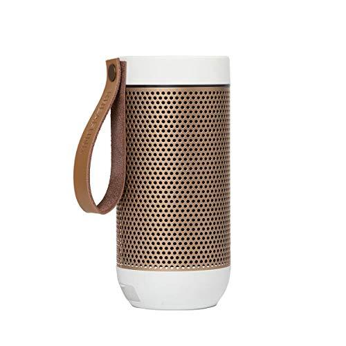 Kreafunk aFunk - Altavoz inalámbrico Bluetooth con micrófono Integrado (hasta 20 Horas de Tiempo de reproducción, Permite emparejar, Color Blanco)