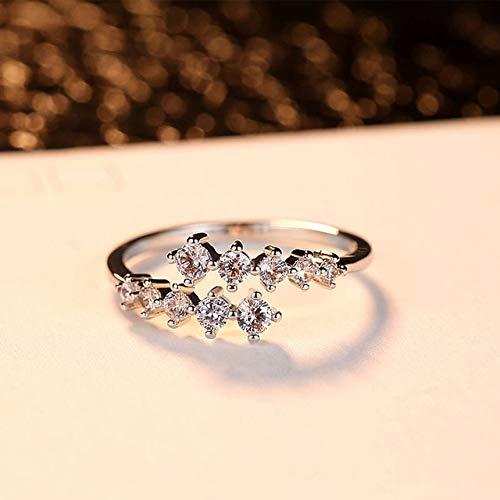 IWINO mode rose gouden ring dames ring charme mini zirkoon metalen ring kleurrijke decoratie set verloving bruiloft sieraden mode cadeau