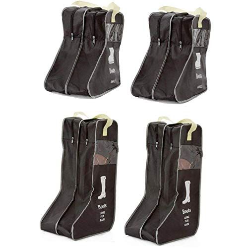 LanHeng Portable 4 Packs,18.5Tall Boots Short Boots Storage/Protector Bag,Boots Cover ?Black?