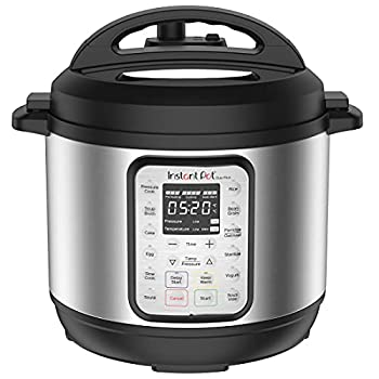 Instant Pot Duo Plus 6 Quart 9-in-1 Electric Pressure Cooker Slow Cooker Rice Cooker Steamer Sauté Yogurt Maker Warmer & Sterilizer 15 One-Touch Programs,Stainless Steel/Black