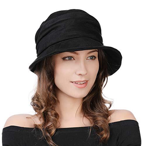 Fancet damski wełniany kapelusz kapelusz zimowy lata 20. XX wieku vintage płaszcz modny Derby kościół czapki dla kobiet kruszenia i regulowane