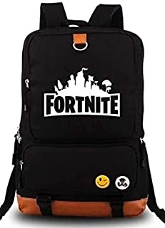 Fortnite Series Classic Noctilucent Luminous Backpack Casual Everyday Student School Bookbag Basic Travel Rucksack Light W...