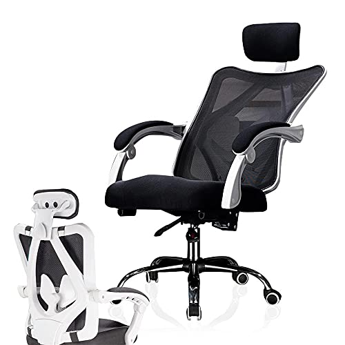 EWYI Ergonomischer Gaming-Stuhl Mit Fußstütze Und Verstellbarer Kopfstütze, 135° Verstellbar, Verstellbarer Bürostuhl, Computer-Stuhl Für Zuhause, Atmungsaktives Mesh-Mat