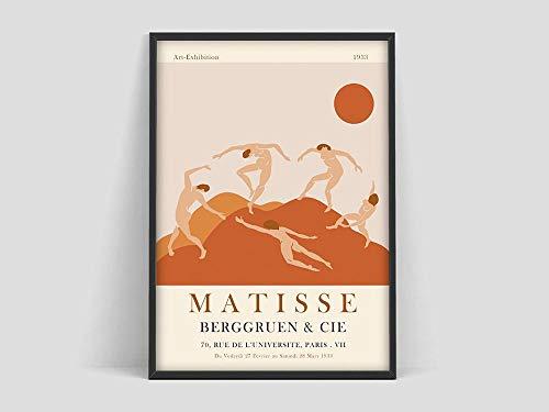 Henri Matisse Kunstausstellungsplakat, Matisse Kunstdruck, Matisse La Dance 1938, Burnt Orange, Matisse Kunstplakat, Henri Matisse Familie Rahmenlose dekorative Malerei Z24 30x40cm