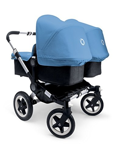 Bugaboo 2015 Donkey Twin Stroller Complete Set in Aluminum and Black by Bugaboo Strollers