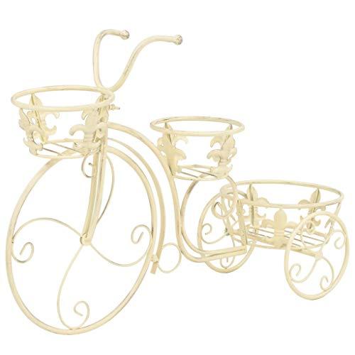 vidaXL Support de Plantes sous Forme de Vélo Style Vintage Métal Porte-Plantes