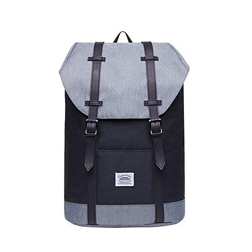 """KAUKKO Rucksack Damen Herren Vintage Reiserucksack für 14\"""" Notebook Lässiger Daypacks Schultaschen"""