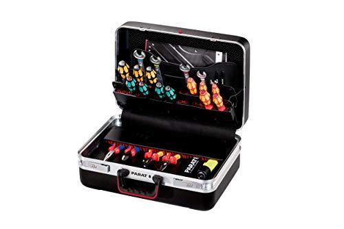 Preisvergleich Produktbild Prarat Werkzeugkoffer CLASSIC Plus Safe,  Ordnungssystem CP-7 - 1 Längssteg,  3 Querstege,  2 Zahlenschloss,  48x36x21cm - 581.050.171 (ohne Inhalt)