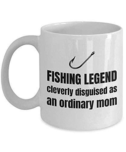 N\A Idea de Regalo para mamá pesquera - Taza para mamá pesquera - Leyenda de Pesca