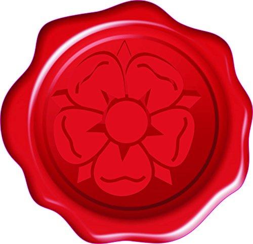 60 Red Tudor Rose 3D Wax Seal Effect Stickers Envelope Invitation Letter Gift Seal Flat Vinyl Labels