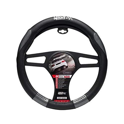 Couvre Volant Universel Grip Look Carbone Noir Race Sport