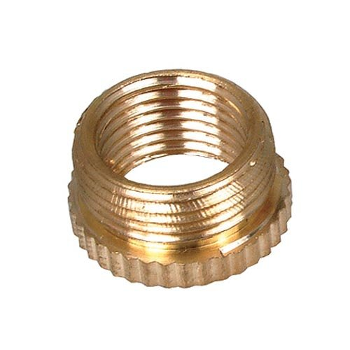 Bulk Hardware BH03035 lamphouder verloopstuk 1/2 inch x 10 mm, messing, wit