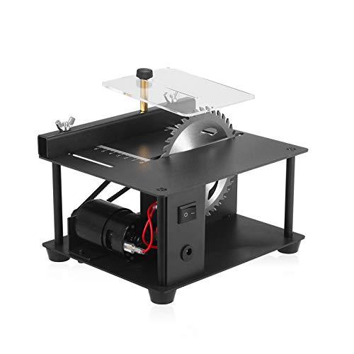 Sierra de mesa multifuncional de 110-240 V, mini cortadora de sierra de escritorio, cortadora eléctrica con hoja de sierra, velocidad ajustable, profundidad de corte de 35 mm