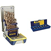 Irwin Industrial Tools Metal Index Drill Bit Set and Industrial Bolt Extractor Set