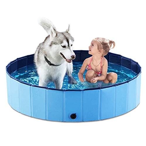 ChengLao-- Faltbares Hunde Pet Bath Pool zusammenklappbares Haustier Hund Pool Baden Tub Kiddie-Pool for Hunde Katzen und Kinder (Color : Blue, Size : 120x30cm)