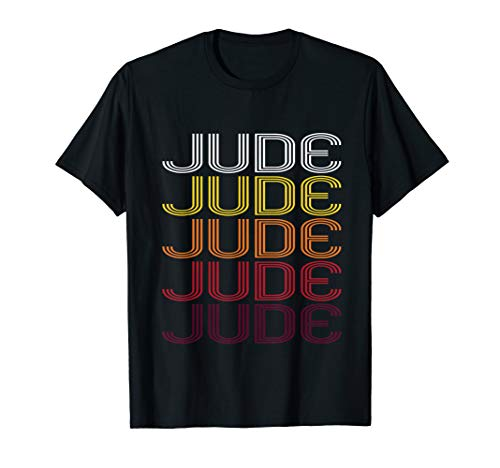 Jude Retro Wordmark Pattern - Vintage Style T-shirt