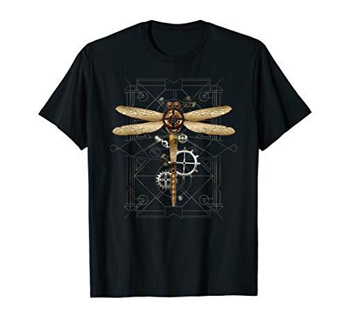 Steampunk Dragonfly T-Shirt Vintage Gears Goth Men Women steampunk buy now online