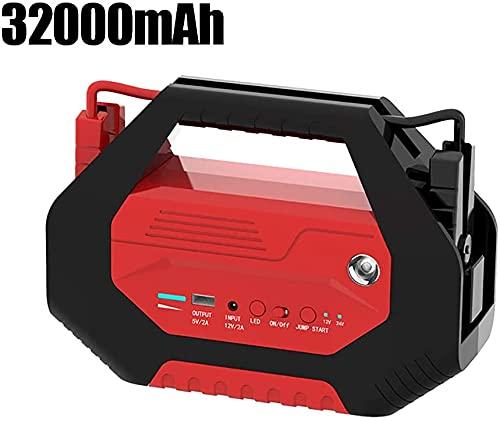 Arrancador de Coches, Starter de salto de automóvil, 1000a 32000mAh Batería y cargador de emergencia, arrancador automático de gasolina diesel, protección inteligente de 8x, usado para la bate