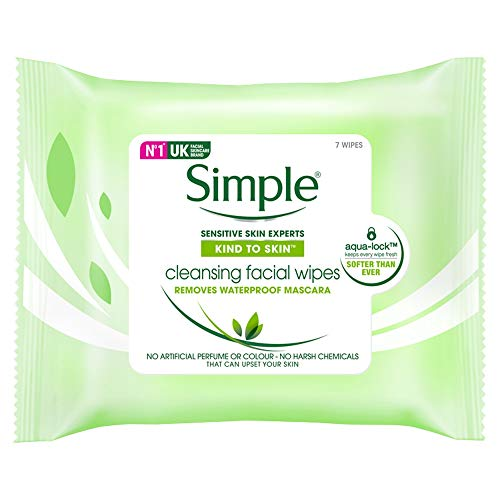 Simple Kind to Skin Cleansing Facial Wipes Pack of 7 Wipes