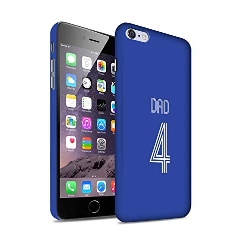 eSwish Personalizzato Kit Camicia Club Calcio Personalizzare Matte Custodia/Cover per Apple iPhone 6+/Plus 5.5 / Blu Bianco Design/Iniziale/Nome/Testo Caso/Cassa Duro Snap On