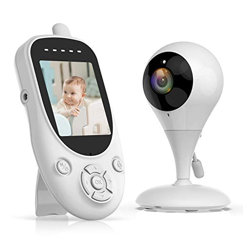 Campark Baby Monitor with Camera Video Night Vision 2.4' LCD Screen Digital Cam 1000ft 2.4GHz Wireless Transmission Two Way Talk Temperature Sensor VOX Auto Wake-up and Lullabies