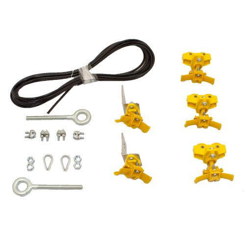 KH Industries FTSW-RS-KIT20 Festoon Stretch Wire Kit with 20' Length for Small Round Cable Systems