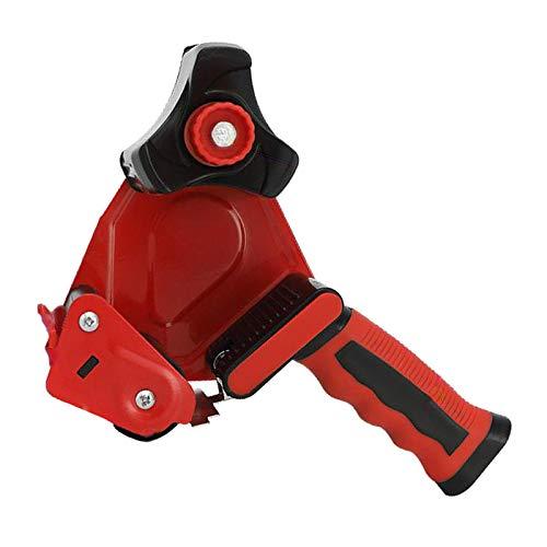 Hellery Fácil de montar dispensador de pistola de cinta de 2 pulgadas embalaje cortador de sellado rojo herramientas de mano de almacén