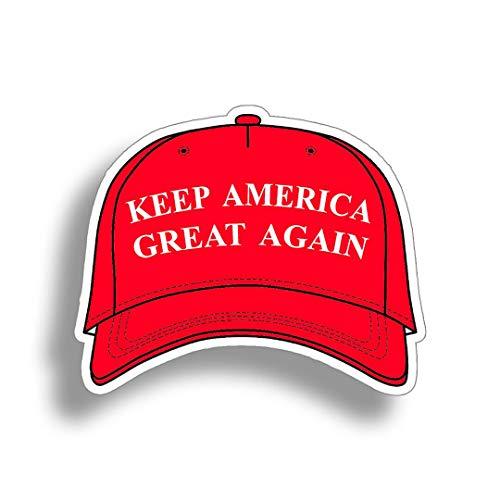 Pegatinas personalizadas para coche, diseño de sombrero de Trump, para ventana de coche, vehículo o parachoques, vinilo impermeable (tamaño 25 cm)